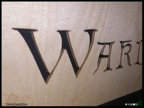 WoodnMetalART Scrollsaw Dekupiersäge Holzlogo Wardruna