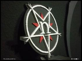 WoodnMetalART Scrollsaw Dekupiersäge Holzlogo Nocte Obducta Black Metal