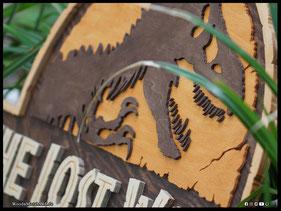 WoodnMetalART Scrollsaw Dekupiersäge Holzlogo The Lost World Jurassic Park
