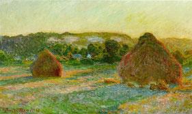 Monet Claude, Meules, fin de l'été, 1890 / photo Wikipedia