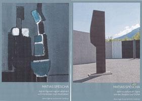 Broschüren zum Spielkoffer von Matias Spescha im Museum Cuort Ligia Grischa Trun