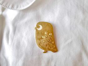 ふくろう Owl/ブローチ、ペンダントトップ Brooch &  Pendant Jewelry
