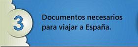 Documentos necesarios para viajar a España.