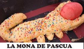 La Pascua se celebra después de Semana Santa y se empina el cachirulo, se baila y se come la mona de Pascua en toda la Comunidad Valenciana.