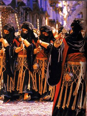 Fiesta de Moros y Cristianos de Alcoy en la Comunidad Valenciana.