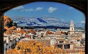 imagen de Cocentaina desde el interior del Castillo. se encuentra en  Alicante, Comunidad Valenciana.