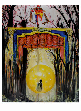 Peter Albach, Surrealismus, Drawing, Ölmalerei, Painting, Fantasy, Landschaft, Traum, Dream, ,