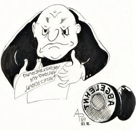 Ablehnung des Antrages auf Registrierung Bearbeiter und Stempel Abgelehnt