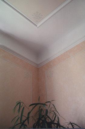 Altbauwohnung -Profileisten - Farbgestaltung -Schablonentechnikl