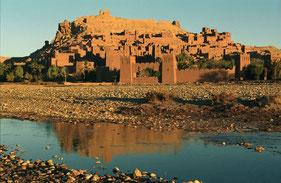 kasbah et désert