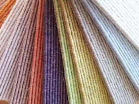 Teppich Teppichboden Farben verschiedene Fasern Langfloorig Schlinge