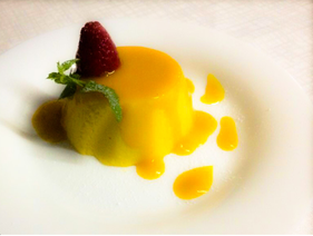 Mango mousse indian restaurant pisa