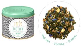 """Infusion """"Détox"""" au mélange fruité de pomme, passion et thé vert."""