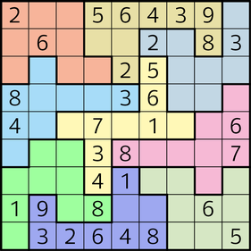 Labyrinth-Sudoku © Rätselbüro Martin Simon