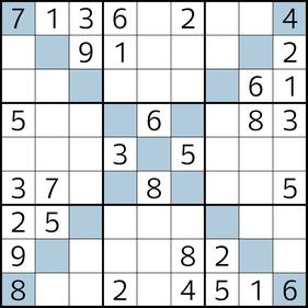 Diagonal-Sudoku © Rätselbüro Martin Simon