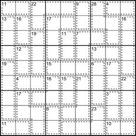 Killer-Sudoku © Rätselbüro Martin Simon
