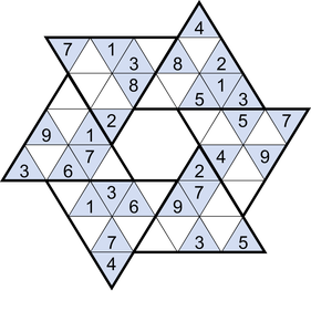 Stern-Sudoku © Rätselbüro Martin Simon