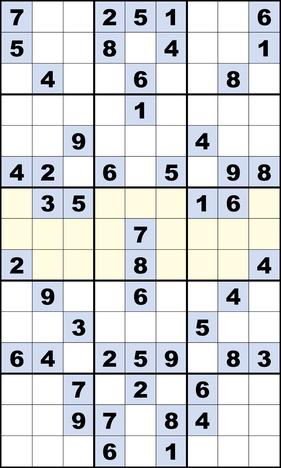 Siamesisches Sudoku © Rätselbüro Martin Simon