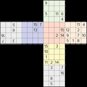 3D Würfel-Sudoku © Rätselbüro Martin Simon