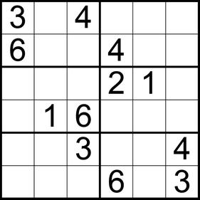 6er-Sudoku © Rätselbüro Martin Simon