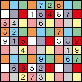 Farben-Sudoku © Rätselbüro Martin Simon