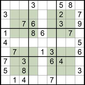 Hyper-Sudoku © Rätselbüro Martin Simon