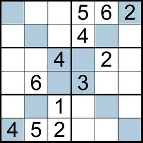 6er Diagonal-Sudoku © Rätselbüro Martin Simon