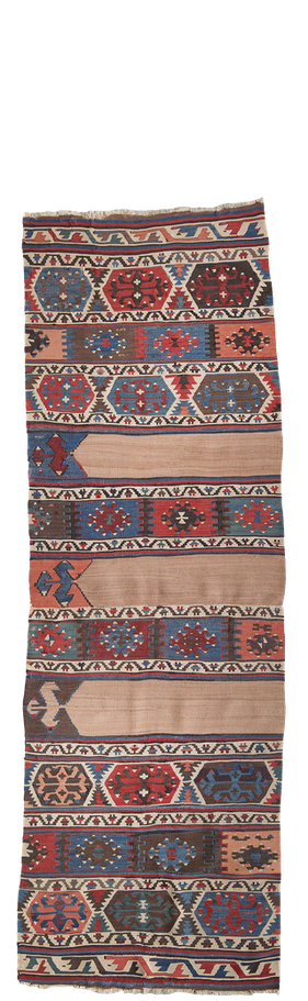 Kelim Teppich. Zürich. Kamu or Kamo Sofreh, Iran . Tapis et kilims nomades. Sofreh nomade d'Iran.  Zurich Suisse, www.kilimmesoftly.ch