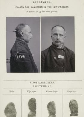 Signalementkaart Veenhuizen  opname 26-01-1898