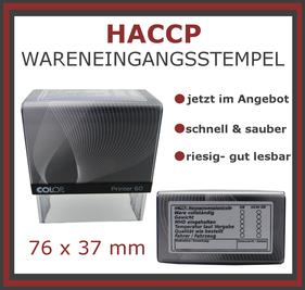 HACCP Wareneingangsstempel