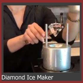 Eiswürfel in Diamantform