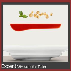 Exentra schiefer Teller