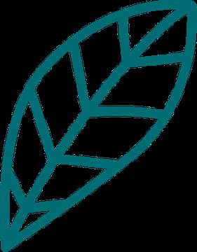 Logo des Jardins du renard et du papillon : la jeune pousse. Petit pousse deviendra grande