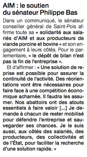 Ouest-France, mercredi 14 janvier 2015