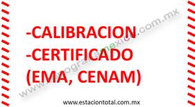 calibracion certificado estacion total ema cenam