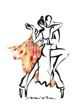 "Illustration de Misha Lenn ""Tango Argentina"""