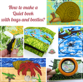 Quiet book beetle how to sew , How to sew a Quiet book. Bugs and beetles