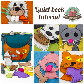 Tutorial patterns quiet book activity book toddler sewing