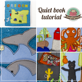 Freebook Tutorial Quiet book Oregon Toddler