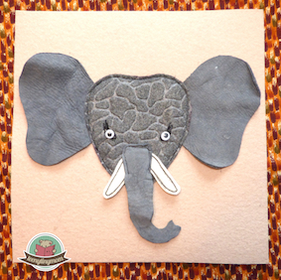 Quiet book Touch and feel book Montessori Activity book Elephant