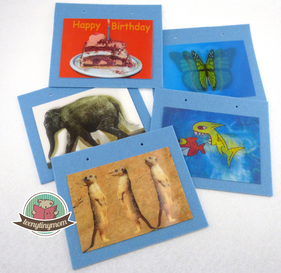 Lenticular cards 3D , crafting for toddler, Quiet book