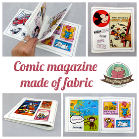 Comic book made of fabric , Quiet book, Softbook, Playbook, Clothbook, tutorial , freebook