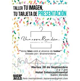 Taller - Tu Imagen, Tu tarjeta de Presentación