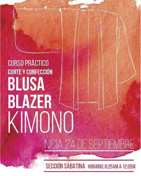 Curso Práctico Blusa, Blazer y Kimono - C Diseña