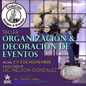 BDC Producciones - Taller de Organización & Decoración de Eventos