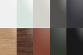 Farben für Wandregal und Bodenregal