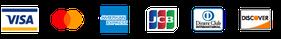 取り扱いクレジットカード:Visa・Mastercard・American Express・JCB・Diners Club・Discover