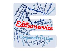 Editierservice CorparateDesign  Vorlagen Formatierung Masterfolien Animation Korrektur Fokus vollständigeÜberarbeitung langjährigeErfahrung ERSTELLUNGderFRAGEN Formulierungshilfen Balkendiagramm Datenvergleich  TED-SYSTEM