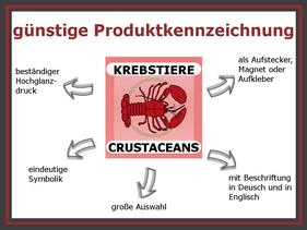 Produktkennzeichnung Speisekarte