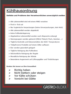 gratis Vorlage Kühlhausordnung